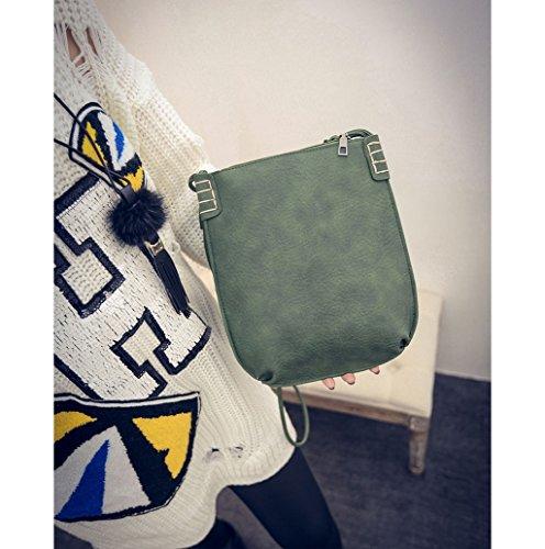 Dairyshop Sacchetti di Hobo del messaggero delle donne di modo della borsa della signora di modo (Marrone chiaro) Verde