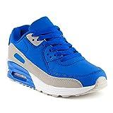 FiveSix Herren Damen Sportschuhe Dämpfung Sneaker Laufschuhe Blau/Grau-W EU 39
