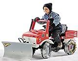 Rolly Toys 036639 Feuerwehr Unimog Farmtrac classic inklusive Rundumleuchte Flashlight, mit Kettenantrieb, Schaltung, Handbremse (für Kinder von 3 – 8 Jahren, TÜV/GS geprüft, Farbe: Rot) - 2