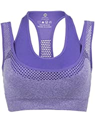 INIBUD - Sujetador deportivo para mujer, acolchado, sin aros, con espalda estilo nadadora, buena sujeción, ideal para gimnasio y actividades deportivas, yoga, running, fitness, etc.
