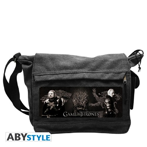 "AbyStyle - Sac Besace - Game of Thrones - ""Eddard & Tywin"" Grand Format - 3700789205692, Vetements"
