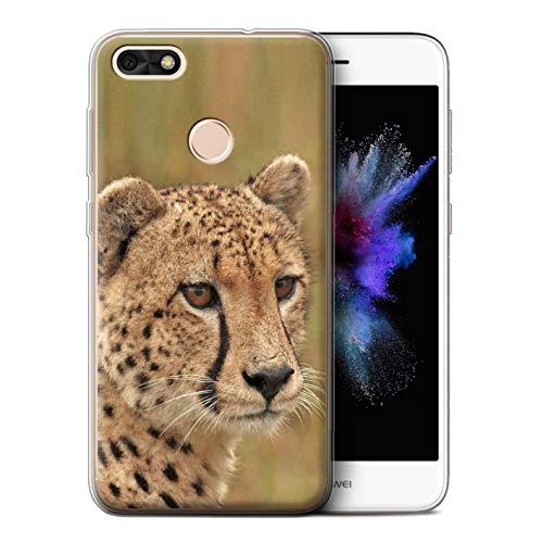 eSwish Gel TPU Hülle/Case für Huawei P9 Lite Mini/Gepard Muster/Wilde Große Katzen Kollektion -