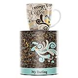 RITZENHOFF My Darling Kaffeebecher von Claudia Schultes, aus Porzellan, 300 ml, mit Trendigen Motiven
