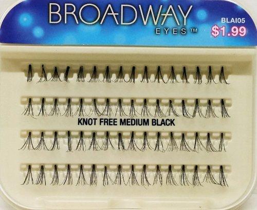 Broadway Eyes Individual Eyelashes - KNOT FREE MEDIUM BLACK BLAI05 (2 Packs) by Broadway Eyes