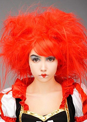 Magic Box Int. Womens Red Backcombed Königin der Herzen - Königin Der Herzen Kostüm Perücke