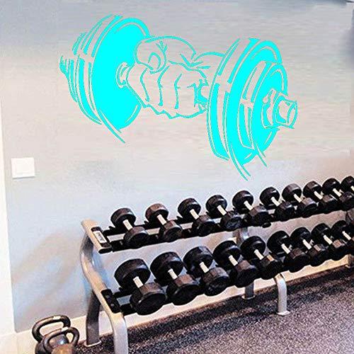 Hanteln Muster Wandaufkleber für Dekoration Zubehör wandbild Raum Sport Ausrüstung Aufkleber Wasserdicht Vinyl Wohnkultur blau 58 cm X 40 cm - Kobalt-blauer Streifen