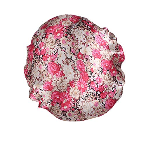 iCerber Schlummertrunk in 9 FarbigerDamen Satin Floral breitkrempigen Haarband Schlafmütze Muslim Hat Haarkappe Schminkkappe ☆Mitgliedertag☆ Mesh Back Team Hat