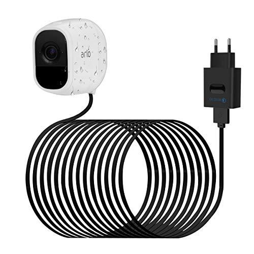 LANMU Netzteil Adapter Ladegerät für Arlo Pro mit USB Ladekabel Zubehör kompatibel mit Arlo Pro VMS4330/Arlo Pro 2 VMC4030P/Arlo Go Überwachungskamera Arlo Security Light (Ladeadapter und 8m Kabel)
