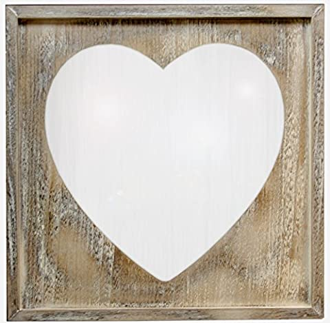 Home Furnishings Handcrafted Wooden Heart Shaped Mirror 49cm