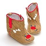 BURFLY Kinderkleidung ♥♥Karikatur Warmstiefel, Neugeborenes Baby Baby Mädchen Weihnachten Boot Schuhe Soft Sole Anti-Rutsch-Boot (11-13CM) (12CM, Khaki)