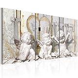 murando - Bilder 120x60 cm - Leinwandbilder - Fertig Aufgespannt - Vlies Leinwand - 3 Teilig Wandbilder XXL - Kunstdrucke - Wandbild - Engel Abstrakt h-C-0045-b-e