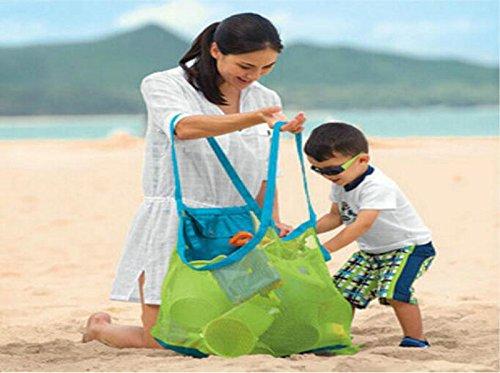 gespout Borsa da spiaggia, per bambini in rete zum giocattolo e strumenti, Mesh Borsa da spiaggia, Sand Passeggiata Mesh tasche, per la spiaggia, Nuoto, Picnic verde verde verde