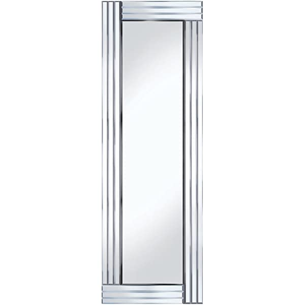 Barcelona Trading Grace Silver Glass Framed Full Length Bevelled Wall Mirror 48 Amazon Co Uk Kitchen Home