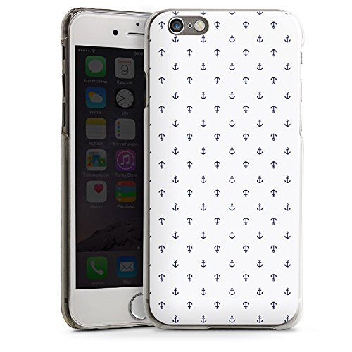 Apple iPhone 5s Housse Étui Protection Coque Ancre Motif Motif CasDur transparent