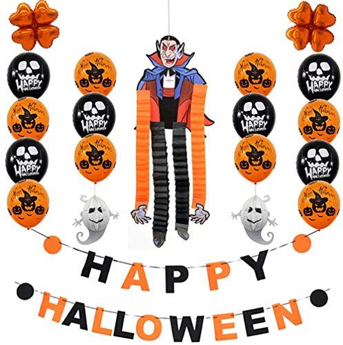 ZIHENGUO Halloween-Party Verzierte Folienballonsatz, Spinnereihexe-Vampirzombie, Fotoausstellungsbereich und Schuf Atmosphäre Für Hauptbüroklassenzimmer,Vampire