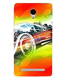 PrintVisa Race Car Art Modern Art 3D Hard Polycarbonate Designer Back Case Cover for Vivo Y28