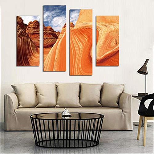 SXXMY Bilder Leinwandbilder Wandbild,Wandgemälde Wand Kunst für das Leben der HD Inkjet Malerei Bild der roten Sandstein Haus Dekoration Wandbilder Malen auf Leinwand (kein Rahmen) -