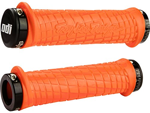 ODI Troy Lee Poignées Design Grip 130 mm Multicolore Orange/Noir 130 mm