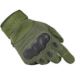 Free soldier Outdoor – Guantes tácticos para hombre, transpirables y resistentes al desgaste, otoño/invierno primavera/verano, hombre, Verde, tamaño medium