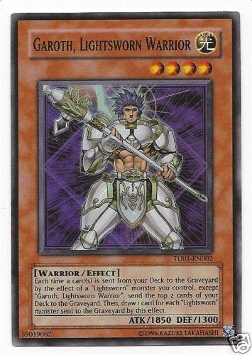 2009 YuGiOh! 5D's Turbo Pack Booster One # TU01-EN002 Garoth, Lightsworn Warrior (Super Rare) / Single YuGiOh! Card in (Yugioh Pack Turbo)