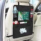 Auto Rückenlehnenschutz– Intipal Rücksitztasche Rücksitz Organizer Rückenlehnentasche mit iPad-Fach Wasserdicht 1Stück (Elefant)