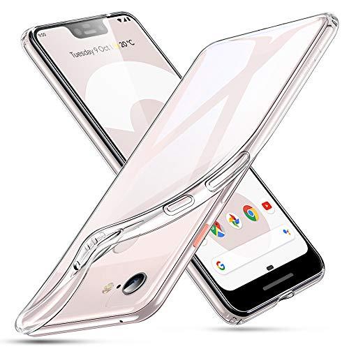 ESR Essential Zero Hülle für Google Pixel 3 XL, Schlankes Klares Weiches TPU - Weiches Flexibles Case, Kompatibel mit dem Google Pixel 3 XL (Kristallklar)