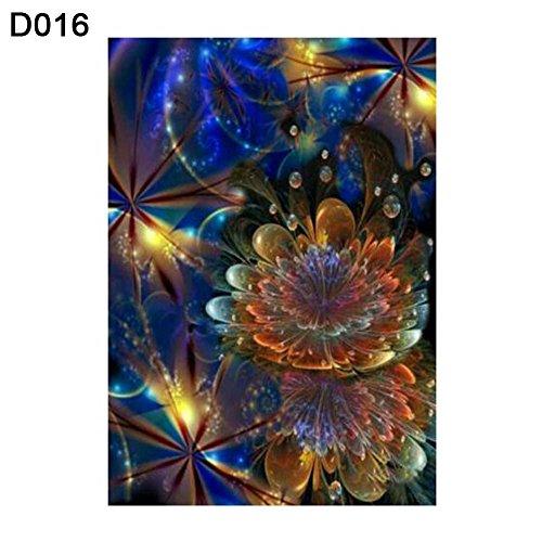 mAjglgE DIY Persische Blume Voller Bohrer Harz Diamant Gemälde Wand Kunst Basteln Dekoration Geschenk D016 - Persischen Garten Blumen