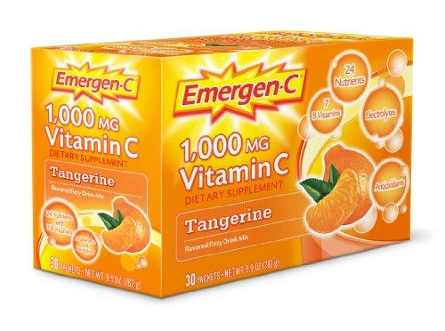 Tangerine-drink-mix (Emergen-C Emergen C Tangerine 30 Sachets)