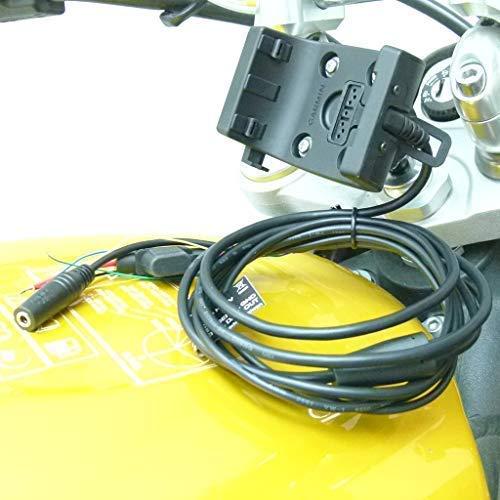 """13.3mm - 14.7mm (0.52 \"""" - 0.58 \"""") Fahrrad Lenkervorbau Halterung mit Audio/Stromkabel für Garmin Montana 600 610 650 650t 680 680t"""