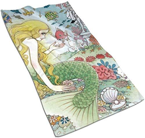 VLOOQ-HX The Little Mermaid Toallas de Mano de Fibra extrafina Toalla de...