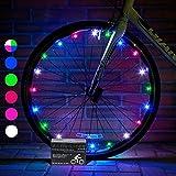 Activ Life Luci a LED per Le Ruote di Biciclette con Batterie Incluse! Conf. da 1 per Copertone - 100% in più di Luminosità e visibilità da Tutte Le Angolazioni per la Massima Sicurezza e Stile
