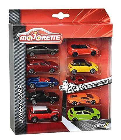 Majorette- 212054003- Vehicule Miniature, B200, Lot de 8 Pièces Classiques + 2 Pièces Edition