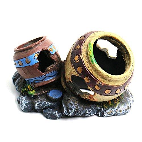 SRQLC Acuario Ornamentos de la Resina del Tanque de Pescados
