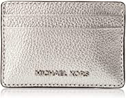 Michael Kors Metallic Pebbled Leather card case - Silver
