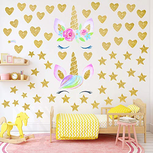 Qkurt Pegatinas pared unicornio Girls Boys Bedroom