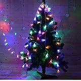 Wokee 10 LED Glocke String,1.2 M Solarbetriebene LED Lichterkette,für Innen und Außen String Licht Outdoor Xmas Party Garten Decor,IP44 Wasserdicht,für Garten (Mehrfarbig)