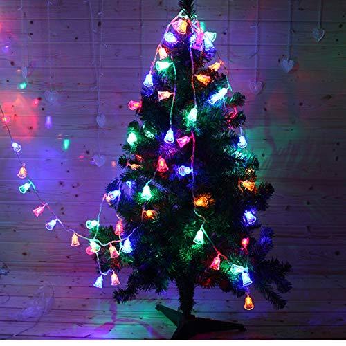 TIREOW String Lichter,1,2M 10 LED Solar Lichter wasserdicht Transparent Schlafzimmer Garten Camping Hochzeit Party Urlaub Dekoration Glocken (Mehrfarben)