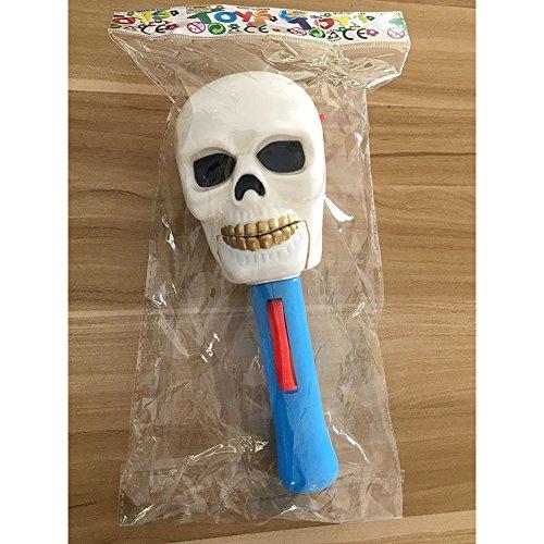 Zantec Kreatives lustiges Halloween Spielzeug Geist Hexe Kopf Auge leuchtender Stock Schrecklicher Ton Nachtclub aufregendes Party Geschenk (Stock Mann Figur Kostüm)