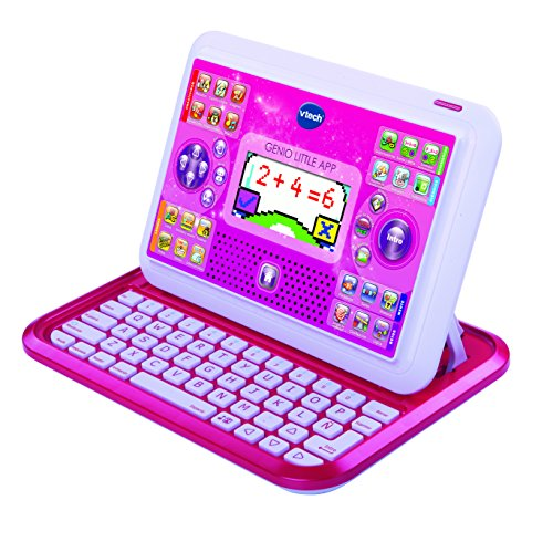 VTech - Genio Little App, tablet educativo para niños, color rosa (3480-155557)