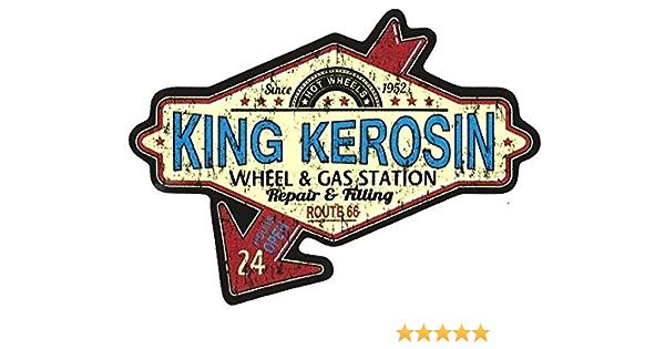 King Kerosin Route 66 Aufkleber Sticker Vintage Oldschool Retro Nostalgie Auto
