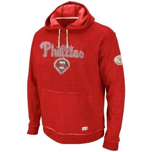 MLB Baseball Hoody/Hoodie/Kaputzenpullover Sweater PHILADELPHIA PHILLIES Home Stretch in XXL (2XL) (Stretch Majestic Pullover)