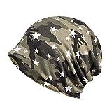 BHYDRY Damen Wrap Indien Muslim Stretch Turban Sternenhimmel Drucken Hut Kopftuch