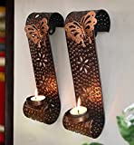 TiedRibbons wall sconces tealight candle holder With Tealight candle for home decoration | tealight holder set | house warming gifts in living room | home decor hanging lights