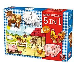 King 5074 Kiddy - Puzzle 5 en 1
