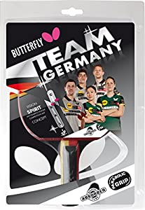 Butterfly Team Germany Spirit Table Tennis Bat - Multi-Colour Review 2018 from Butterfly