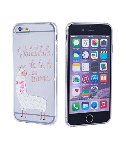 SIX Witzige Lama Handyhülle, transparent, Silikon Hülle, Schutzhülle für iPhone 7 und 8 (425-559)