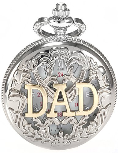 AMPM24-Women-Mens-Silver-Tone-Dad-Dangle-Pendant-Pocket-Quartz-Watch-Chain-AMPM24-Gift-Box-WPK050