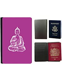 GoGoMobile Hot Style PU Leather Travel Passport Wallet Case Cover // Q10000621 sitting buddha 11 Byzantine // Universal passport leather cover