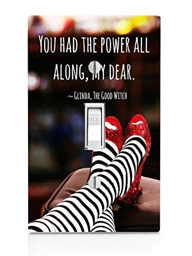 Trendy Accessories Lichtschalterplatte mit inspirierendem Zitat, rote Pantoffeln (Nicht EIN Aufkleber)