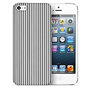 Snoogg Grey Vertical Lines Abstract Printed Protective Phone Back Case Cover For Apple Iphone 5 / 5S